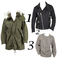 It is never too early to start to think about a new season wardrobe, and a parka, black jacket and fail-safe knit must be at the top of your AW12 list. A waterproof coat will keep you dry in those unpredictable British showers, a classy black bomber is the perfect option for on-trend evening dressing, and well, your winter just wouldn't be the same without a woolly.   Shop our top three men's winter picks at: http://www.miinto.co.uk/styleguide-men-s-winter-picks-10