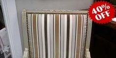 Charles Faudree Chairs with Schumacher Striped Velvet