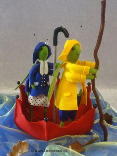 Patroon is te koop bij www.deviltentol.nl Varen, Varen  2 sprinkhanen in een paraplu.