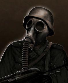 ww2 gas mask drawing - Google Search