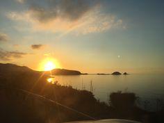 Coucher de soleil sur l'île Rousse 11 octobre 2017