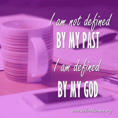 """I am not defined by my past. I am defined by my God. #HelloBeloved  Want to make this Friday even better? Be encouraged with this week's video Bible Study """"Victory In The Wilderness"""". #linkinbio #BelievingBetter #GoodMorning #HappyFriday #inspiration #encouragement"""