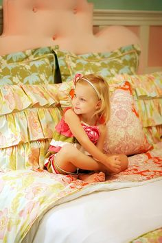 """Addison's Wonderland"" - big girl bedding?"