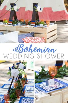 How to Host a Boho Wedding Shower - Crowning Details Unique Bridal Shower, Bridal Shower Cakes, Bridal Shower Party, Bridal Shower Planning, Wedding Planning, Bohemian Party Decorations, Summer Bridal Showers, Boho Baby Shower, Diy Tutorial