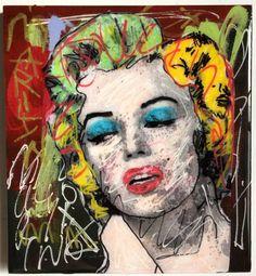 Marilyn Monroe マリリンモンローオリジナル french artist epo2_画像1