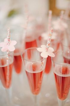These straws are fab! http://www.stylemepretty.com/canada-weddings/2014/07/01/blush-blossoms-bridal-shower/ | Photography: Heidi Lau - http://www.heidilau.ca/
