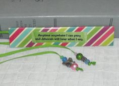 YOUTHS Serve Jehovah Bible Bookmark // PRAY by MainelyBooks, $9.50