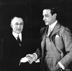 Rudolph Valentino pictured with Adolph Zukor