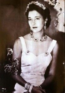 Emmanuelle de Dampierre, 1st wife of Infante Jaime of Spain, Duke of Segovia and mother of his children Alfonso, Duke of Anjou and Cadiz and Gonzalo, Duke of Aquitaine.  The boys were named after Jaime's hemophiliac brothers Alfonso and Gonzalo who both died young.