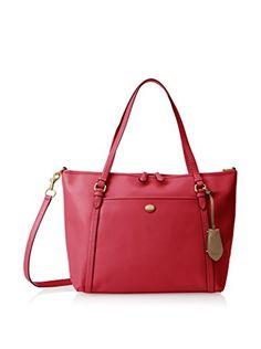 "www.myhabit.com  Smooth leather carryall boasts 2 exterior slip pockets, inner zip pocket, 2 inner slip pockets, removable and adjustable shoulder strap, 9"" handle drop"