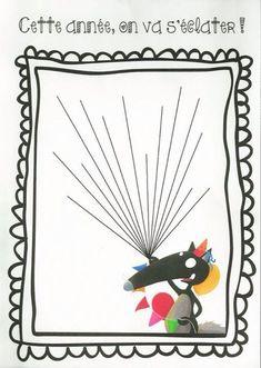 loup et petit loup activite School Organisation, Birthday Wall, Petite Section, Teacher Gifts, Homeschool, Arts And Crafts, Cartoon, Illustration, Ballons
