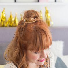 DIY GOLD PONYTAIL HAIR CUFF Hair Pinterest Hair Cuffs - Ponytail cuff diy