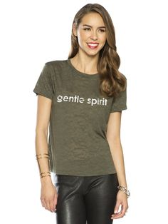 Gentle Spirit Burnout Army Mini Mimi Crew Neck Tee