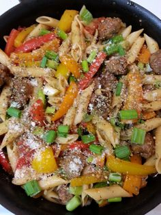 Christine's Pantry: Italian Sausage and Rainbow Pepper Penne