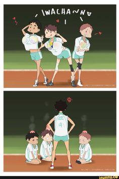 animu, haikyuu, oikawa, iwaizumi, matsuhana - iFunny :)