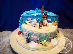 Moana Theme Birthday, Moana Themed Party, Moana Party, Dolphin Birthday Cakes, 3rd Birthday Cakes, 3rd Birthday Parties, Party Cakes, Cake Designs, Cupcake Cakes