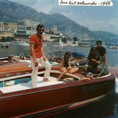 pinterest.com/fra411 #classic #motorboat - Riva & Jean Paul Belmondo