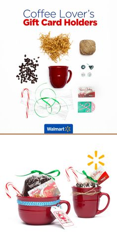 Coffee Lover's Gift Card Holders | Walmart - Spread a little holiday warmth and cheer with this customizable card-holder idea. See this and other fun gift card presentations at Walmart.