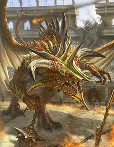 Artist: Unknown - Title: Unknown - Card: Sagacious Dragon Warrior (Drake)