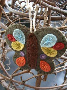Felt butterfly ornament