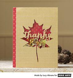 Hero Arts Cardmaking Idea: Autumn Leaf Shaker Card