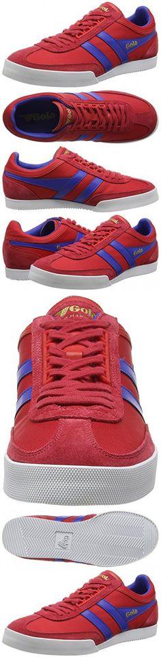 Gola Men's Super Harrier Fashion Sneaker, Red/Reflex Blue, 9 UK/9 M US