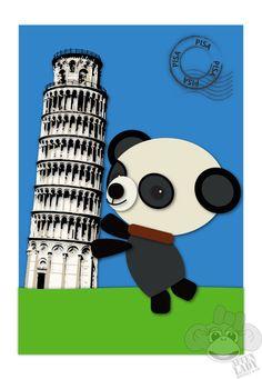 Panda Bear in Pisa von AffenLadyMonkeyAndCo auf Etsy