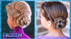 Frozen Inspired Elsa's Coronation Updo - A CuteGirlsHairstyles Disney Exclusive