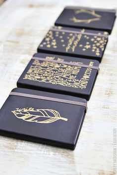 Simple Sharpie Journals and Matching Gift Wrap | Ashley Hackshaw / Lil Blue Boo