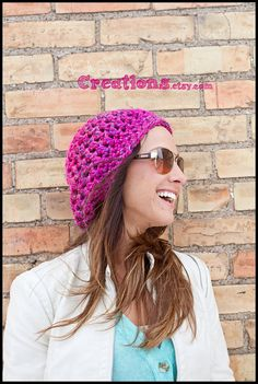 Slouchy Hat  Crochet  Super Bulky by AmandaJeanCreations on Etsy, $20.00