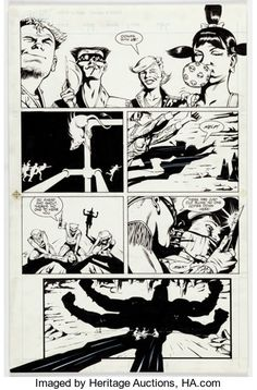 Original Comic Art:Panel Pages, Steve Rude and John Nyberg Nexus #35 Page 17 Original Art(First, 1987)....