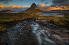 Water Flows Home - Hi Everyone! Just finished an amazing autumn tour with Iurie Belegurschi Photography of www.iceland-photo-tours.com  here is a an image of me doing some hiking from the higher falls above kirkjufell during my extra days after the tour with my mate from the UK, Shaun Young.