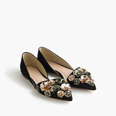 Collection Sloan flower sequin d'Orsay flats