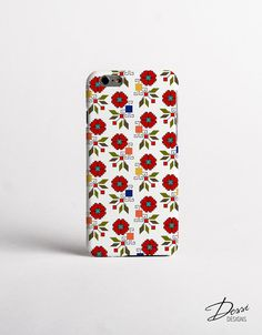Embroidery Poppy Flowers Phone Case Design for iPhone Cases, Samsung Cases, Nokia Cases, BlackBerry Cases, HTC Cases and LG Cases