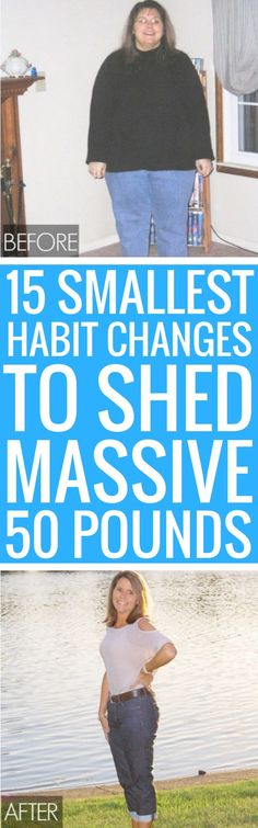 15 small habit changes to lose weight quickly.