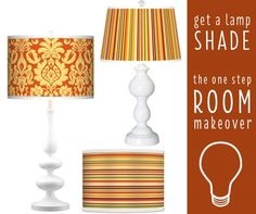 Get a lamp shade - the one step room makeover