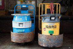 Electrical carts at Tsukiji fish market