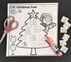 FREE Fun CVC practice for Christmastime! Cut out the ornaments, then match the right pictures to the words