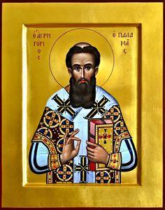 Saint Gregory Palamas Saint Gregory, Byzantine Icons, Orthodox Christianity, Orthodox Icons, Medieval Art, I Icon, Catholic, Saints, Religion