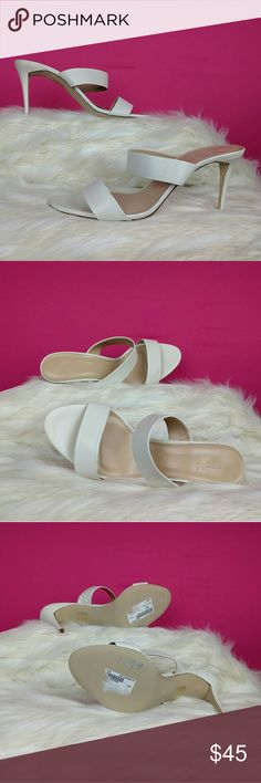 J. Crew size 11 white leather sandals The georgous J. Crew white sandals are a size 11. The uppers are a white leather. There are a couple of smugs on the uppers. They're in good condition. J. Crew Shoes Sandals