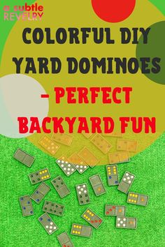 Sharing you colorful DIY hard dominoes perfect for backyard fun. Summer is here and that means it's the perfect time for backyard barbeques and summer celebrations!  Check out how you can make your own DIY yard dominoes, these are the perfect DIY! #dominoes #backyardfun #DIYdominoes Party Hacks, Party Ideas, How To Play Dominoes, Low Calorie Cocktails, Diy Donuts, White Paint Pen, Diy Wax, Diy Christmas Decorations Easy, How To Make Diy
