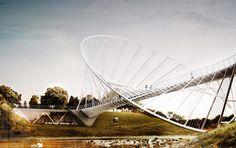 橢圓形吊橋+地標方案