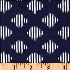 Anchors Away Diamond Ikat Navy