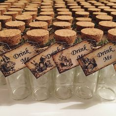 Alice In Wonderland Drink Me Bottle by BlathnatJewellery Mad Hatter Wedding, Mad Hatter Tea, Mad Hatters, Alice In Wonderland Decorations, Alice In Wonderland Tea Party, Winter Wonderland, Tea Party Birthday, 1st Birthday Girls, Alice Tea Party