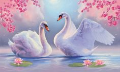 Swan & flower diy Diamond painting Cross Stitch FULL drill Diamond Embroidery diamond mosaic pattern picture home decor Swan Painting, 5d Diamond Painting, Diy Painting, Swan Pictures, Art Pictures, Cross Paintings, Animal Paintings, Images D'art, Swan Love