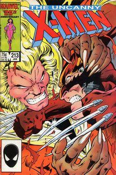 X-men 213 Wolverine vs. Saber Tooth Marvel comics