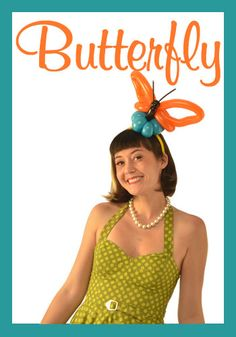 Nifty Balloons - Butterfly Hairband, Balloon-Animals.com