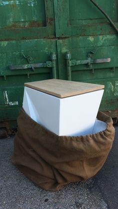 me Blanco Mate con tapa de roble. Design Kitchen, Interior Design, Decor, Waste Container, Cubes, Kitchens, Design Of Kitchen, Nest Design, Decoration