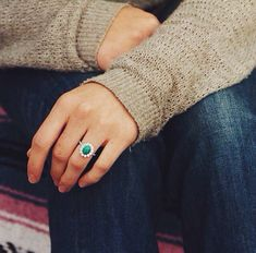 In love with this Turquoise engagement ring.