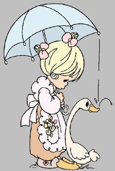 cute precious moments illustrations - Google Search